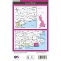 OS Landranger Map - 199 - Eastbourne & Hastings, Battle & Heathfield